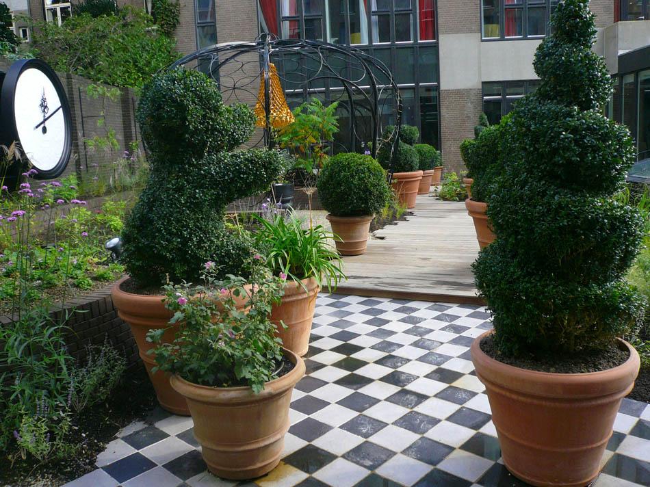 Andaz tuin Prinsengracht