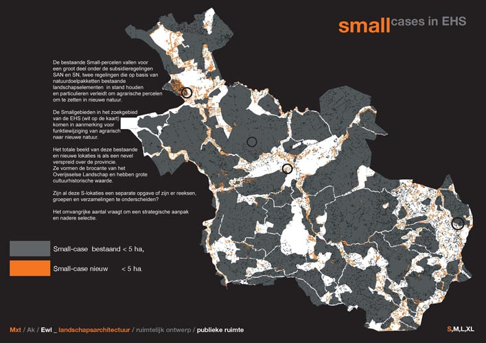 kaartbeeld  Smallcases in de EHS