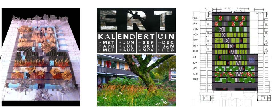 Impressie kalendertuin Erfhof Rooterdam