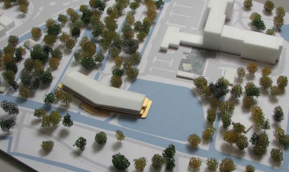 Stadzicht maquette ZwarteHond